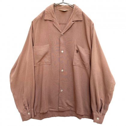 古着 通販 タウンクラフト【TOWNCRAFT】ヴィンテージ オープンカラー レーヨン ギャバジンシャツ【1960's】Vintage Rayon Gabardine Shirts