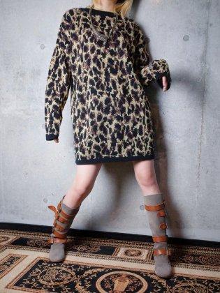古着 通販 ヴィンテージ レオパード柄 グリッター ニットセーター Leopard Glitter Knit Sweater