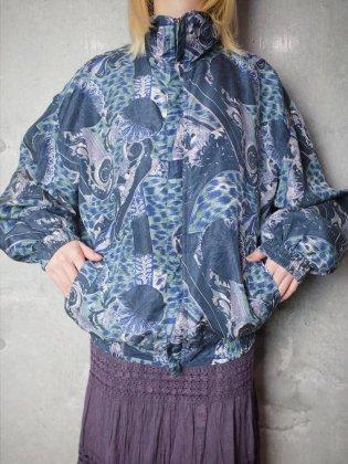 古着 通販 ヴィンテージ クラシカル柄 シルクブルゾン Classical Pattern Silk Blouson