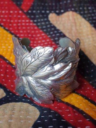 古着 通販 ヴィンテージ リーフモチーフ ワイドバングル Leaf Motif Wide Bangle