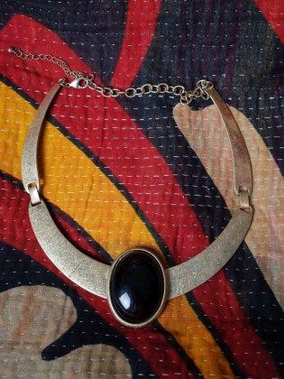 古着 通販 ヴィンテージ ブラック トップ チョーカーネックレス Black Top Choker Necklace