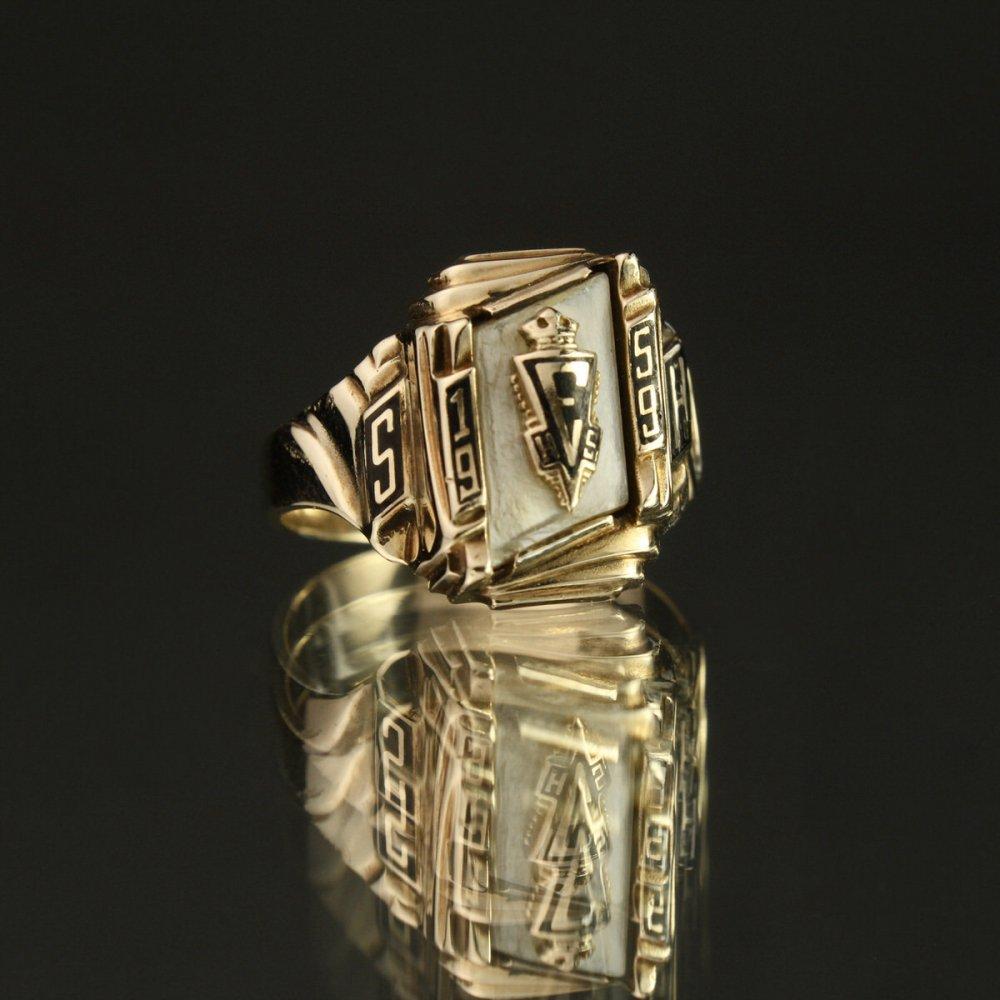 古着 通販 ヴィンテージ カレッジリング【HERFF JONES 10kt Gold】【1959's-】Shell Top & GLD Emblem