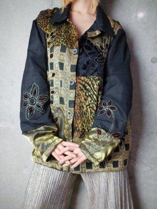 古着 通販 ヴィンテージ 刺繍&クレイジーパッチワーク ジャケット Embroidery & Crazy Switch Big Silhouette Jacket