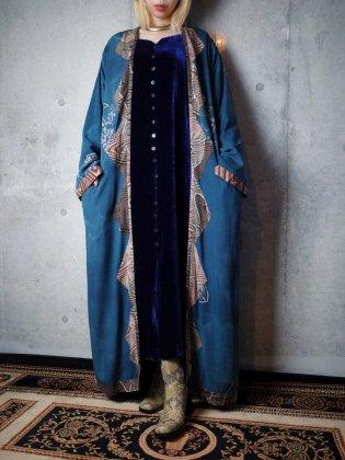 古着 通販 ヴィンテージ プリミティブ柄 ムラ染め レーヨンガウン Primitive Uneven Dye Rayon Gown