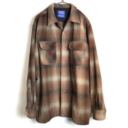 古着 通販 ペンドルトン【PENDLETON】ヴィンテージ オンブレチェック オープンカラー ウールシャツ【1990's-】Vintage Wool Shirt
