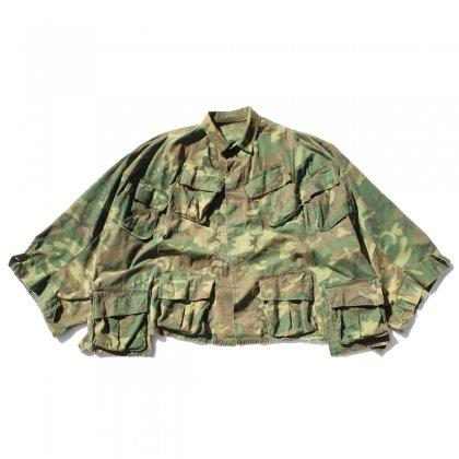 古着 通販 ピンプスティック【pimpstick】ビッグシルエットリメイク ポンチョ US ARMY BDU JKT