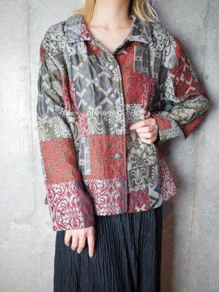古着 通販 ヴィンテージ アラベスク パネル柄 ゴブラン ジャケット Arabesque Panel Pattern Gobelin Jacket