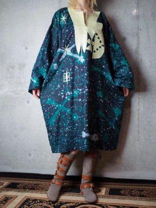 古着 通販 ヴィンテージ 刺繍 アフリカンバティック ワンピース Embroidery African Batik Dress