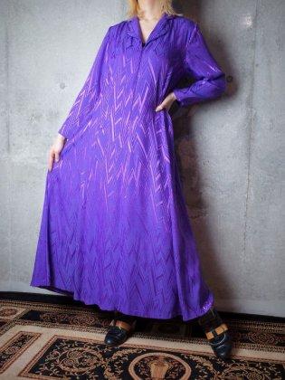 古着 通販 ヴィンテージ パープルジオメトリック ワンピース Purple Geometric Dress