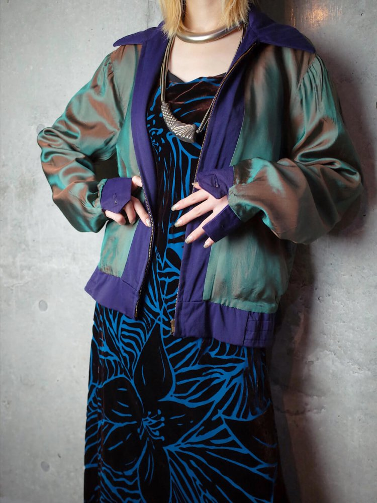 古着 通販 ヴィンテージ ギャバジン 玉虫裏地 ジャケット 1950-1960年代 Vintage Western made Gabardine Jacket c.1950-60s Iridescent Back
