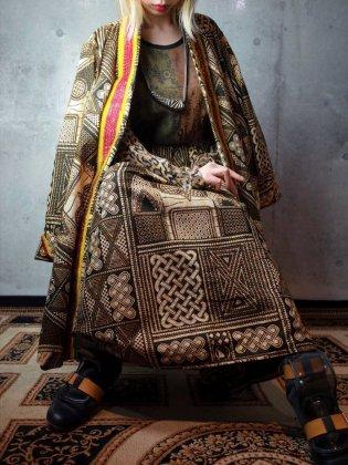 古着 通販 ヴィンテージ アフリカンバティック 刺繍 ガウン×スカート セットアップ African Batik Embroidery Gown & Skirt Set up