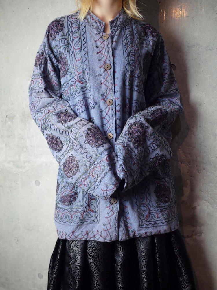 古着 通販 ヴィンテージ 刺繍 マオカラー ジャケット Embroidery Mao Collar Jacket