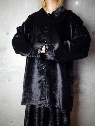 古着 通販 ヴィンテージ カフス刺繍 ベルベット ジャケット Cuffs Embroidery Black Velvet Jacket