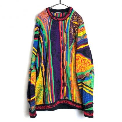 古着 通販 クージー【COOGI】ヴィンテージ コットン 3D クルーネック ニット【1990's-】Vintage 3-D Knitting Sweater