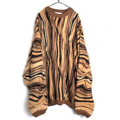 古着 通販 ヴィンテージ コットン 3D クルーネック ニット【1990's-】【Bergati】Vintage 3-D Knitting Sweater