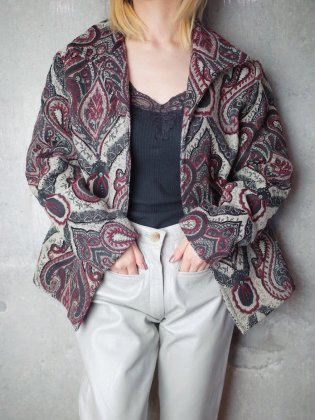 古着 通販 ヴィンテージ ダマスク柄 ゴブランジャケット Damask Gobelin Bijou Embroidery Jacket