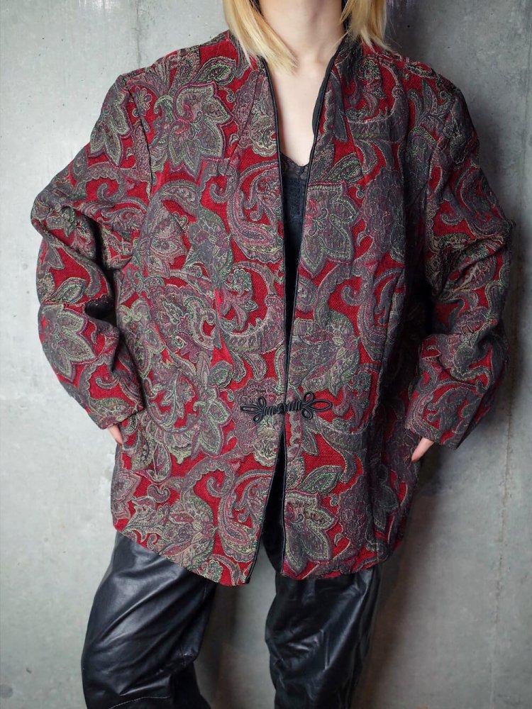 古着 通販 ヴィンテージ アラベスク柄 チャイナボタン ゴブラン ジャケット Arabesque China Gobelin Jacket