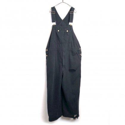 古着 通販 【Dickies】ヴィンテージ ブラックデニム オーバーオール【1980's】Vintage Damaged Overall