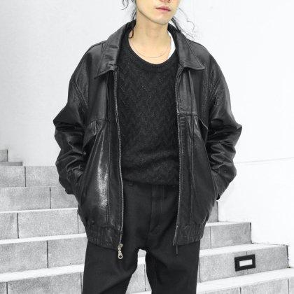 古着 通販 Black Leather Jacket Style
