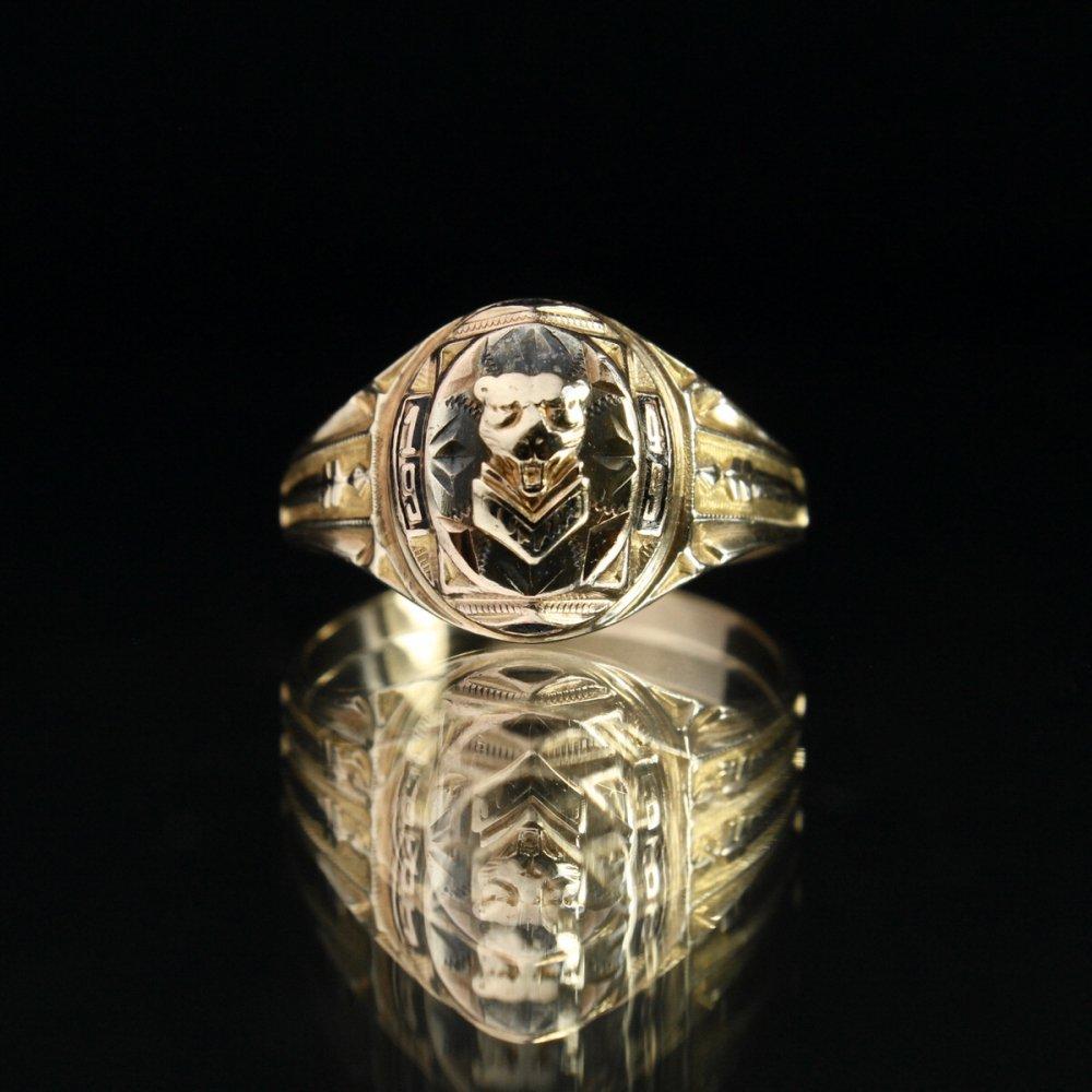 古着 通販 ヴィンテージ カレッジリング パンサー【BALFOUR 10kt Gold】【1949's-】Panther Emblem