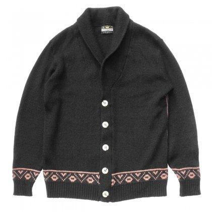 古着 通販 ヴィンテージ ショールカラー ニット カーディガン【Sportswear】【1970's-】Ethnic Pattern
