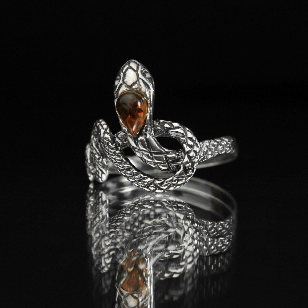 古着 通販 ヴィンテージ スネーク デザイン リング【JS 925】snake Motif & Glass