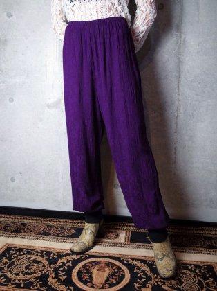 古着 通販 ヴィンテージ リメイク リブパンツ Remake Rib Pants Deep Purple Jacquard