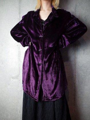 古着 通販 ヴィンテージ ディープパープル レーヨンベルベット ロングシャツ Deep Purple Rayon Velvet Long Shirt