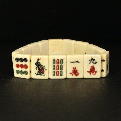 古着 通販 ヴィンテージ 麻雀牌 ブレスレット【1950s~ Mahjong Gambling Amulet】Natural Bone
