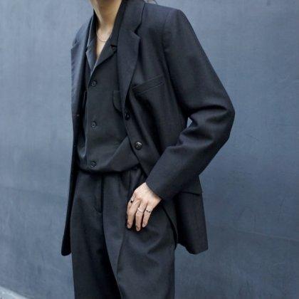 古着 通販 Recommend 80's Black Set Up Suit Style