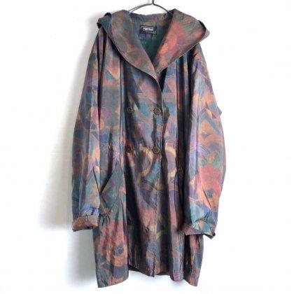 古着 通販 ヴィンテージ ボタニカルパターン ナイロン フードコート【1990's-】【PORTRAIT】Vintage Hooded Nylon Coat