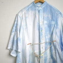 nusumigui<br /><br />Patchwork Hand-dyed Shirt