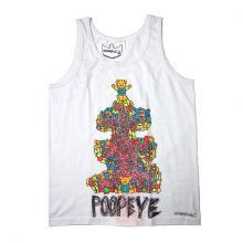 "TARZANKICK!!!<br />ターザンキック<br />Hand Printed Tank-top ""POOPEYE""   【TK008】"