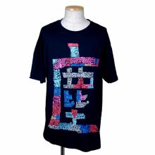 """TARZANKICK!!!<br /><br />Hand Print T-shirt""""塵"""" <br />【TK010】"""