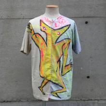 """TARZANKICK!!!<br /><br />Hand Paint """"W FACE"""" T-shirt<br />【TK022】"""