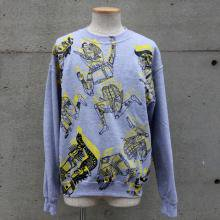 TARZANKICK!!!<br /><br />Hand Printed Patterned All Over Sweat
