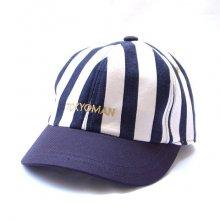 TONBOW<br /><br />T.M STRIPE CAP -NAVY-
