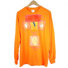 "TARZANKICK!!!<br /><br />Hand Painted Long Tee <br />Orange ""ABZ�"