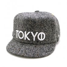TONBOW<br /><br />TOKYO 'TWEED' CAP <br />-BLACK-