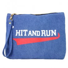 TONBOW<br /><br />HIT&RUN DENIM CLUTCH BAG