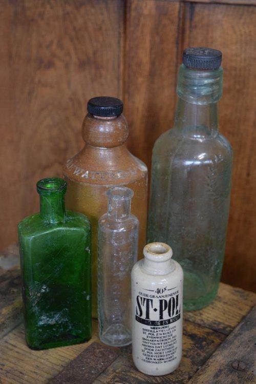 アンティークボトル・薬瓶(5本セット)