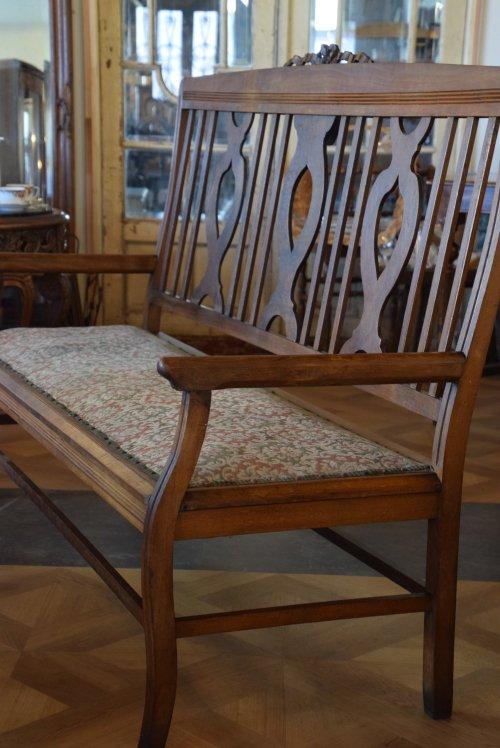 3人掛けリボンセティ/ベンチソファ/長椅子