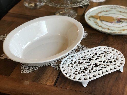 ディッシュプレート(大皿)&アイアン製ディッシュスタンド(送料込み)