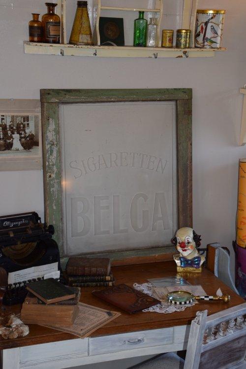 ビンテージ BELGAショーウィンドーガラス(送料込み)