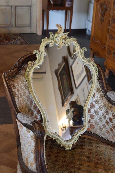クラックマーブルフレームミラー/壁掛け鏡 (送料込み)
