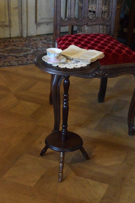 ボビンレッグのサイドカフェミニテーブル (送料込み)