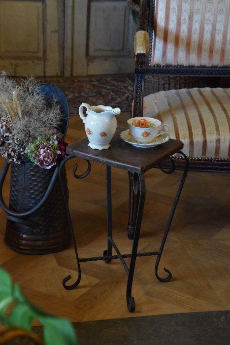 古木とアイアンのミニサイドテーブル(送料込み)