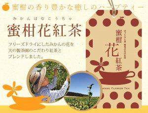 みかんの花の紅茶「蜜柑花紅茶」フリーズドライのみかんの花