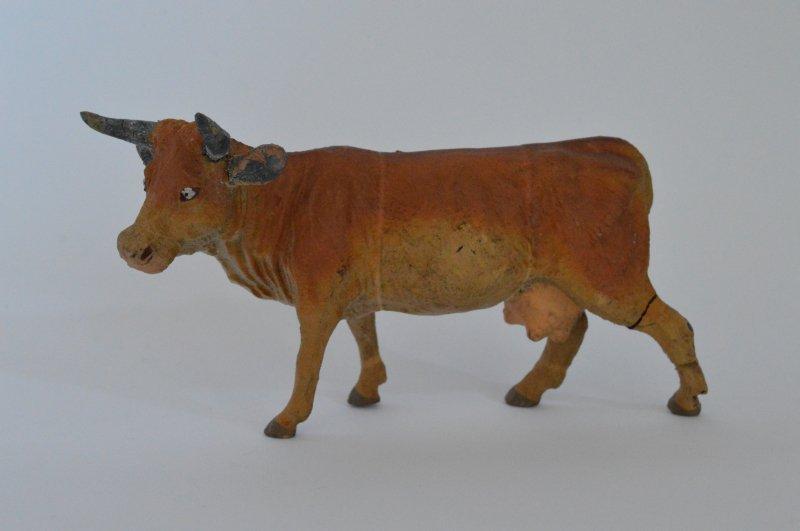 Elastolin 動物のフィギュア  茶色い牛