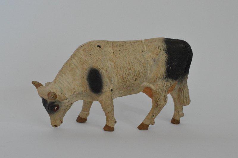 Elastolin 動物のフィギュア  白に黒い班の牛
